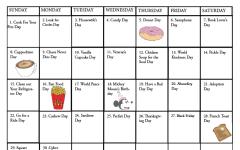 Fun national holiday calendar: November