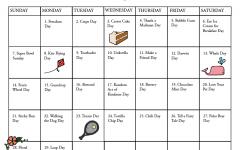 Fun national holiday calendar: February