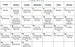 Fun national holiday calendar: May