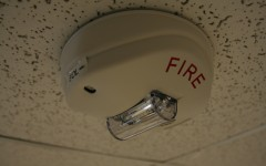 Chemistry experiment triggers fire alarms