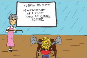Explosive boredom