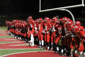 First playoff varsity football game