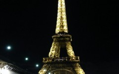 The iconic Eiffel Tower from the banks of the Seine.