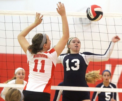 Varsity volleyball tops Ursuline during student night