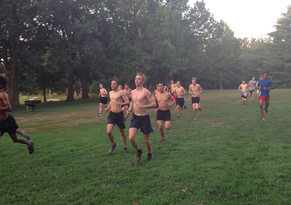 Boys' cross country beats the heat with morning practices