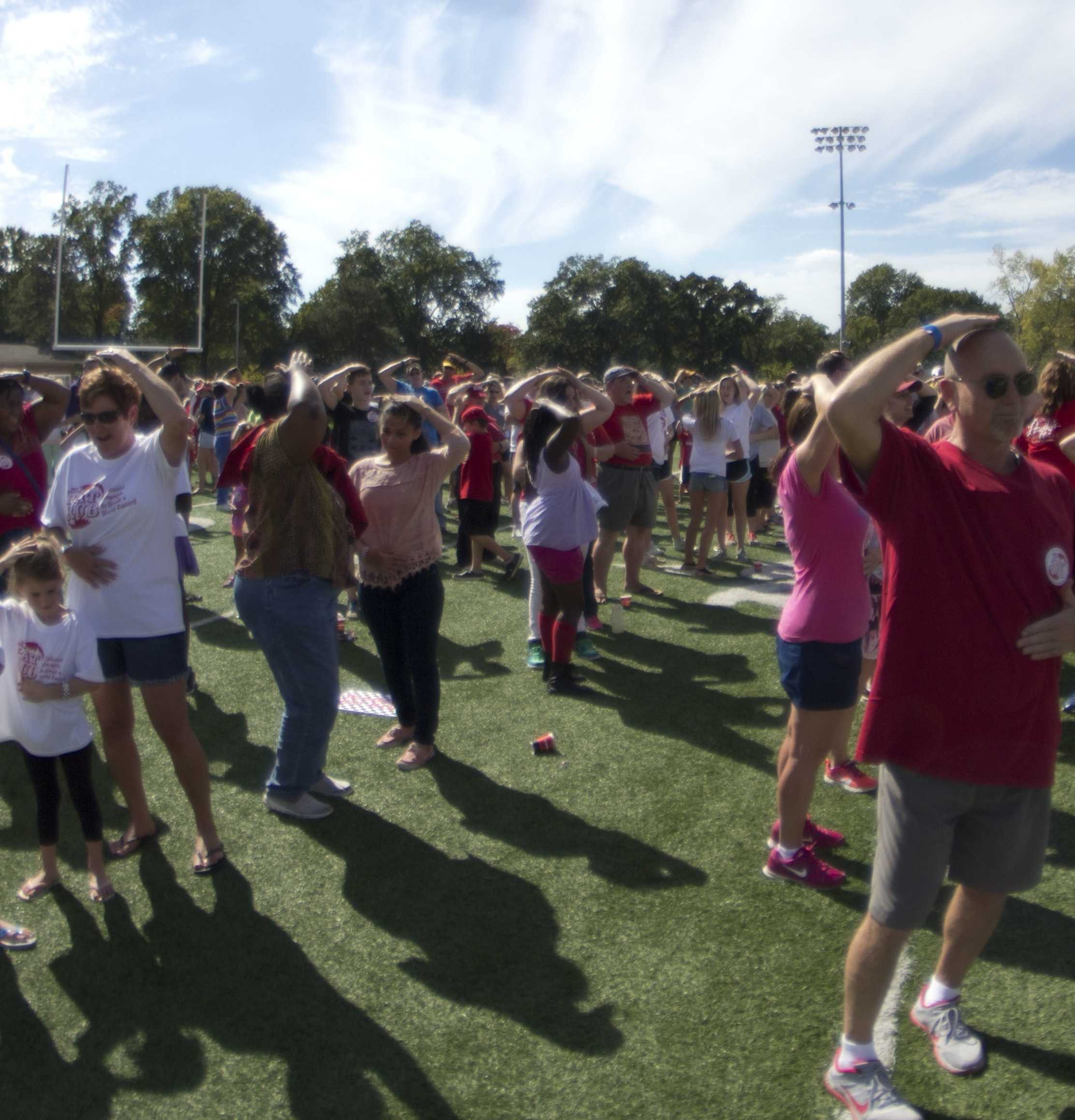 On Sept. 27, over 1,132 people came to KHS and participated in the Great Pat Rub.
