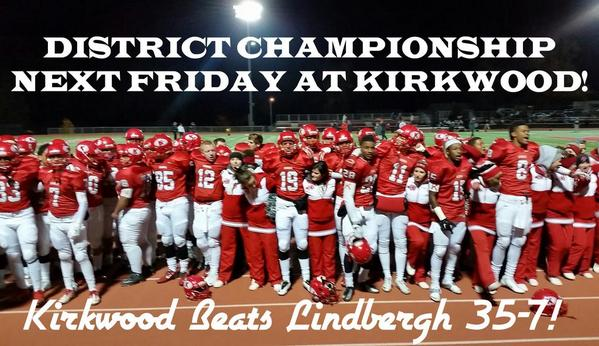 photo courtesy of the Kirkwood football Twitter account