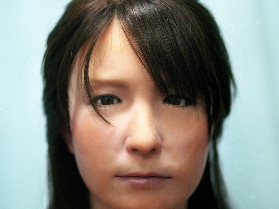 Geminoid F, created by Hiroshi Ishiguro.