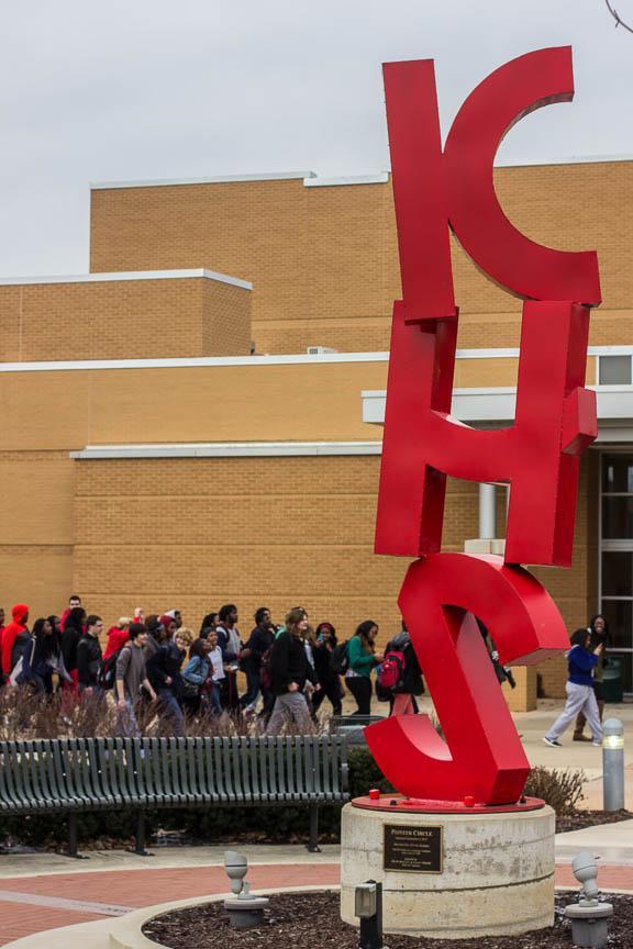 Kirkwood High School students protest