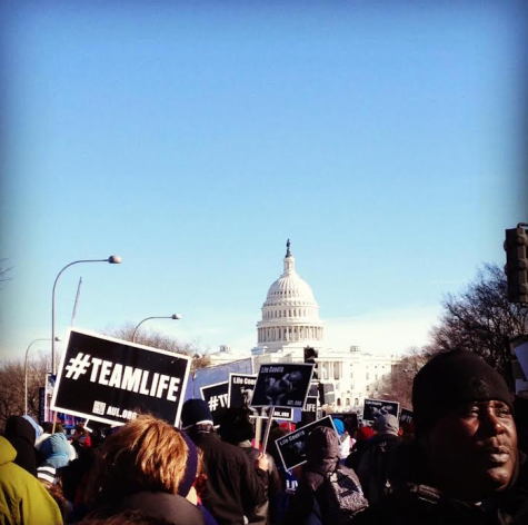 Over 500,000 people march in front of the U.S. Capitol Building during the Pro-Life March on January 22, 2014.
