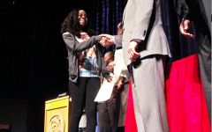 104 students received the African-American Achievement Award during a ceremony held in the Keating Theater during homeroom Feb. 11. The award is given to any black student with a 3.0 or higher GPA.  The ceremony also recognizes the top three  black students in each grade. Each student received their award and listened to guest speakers.