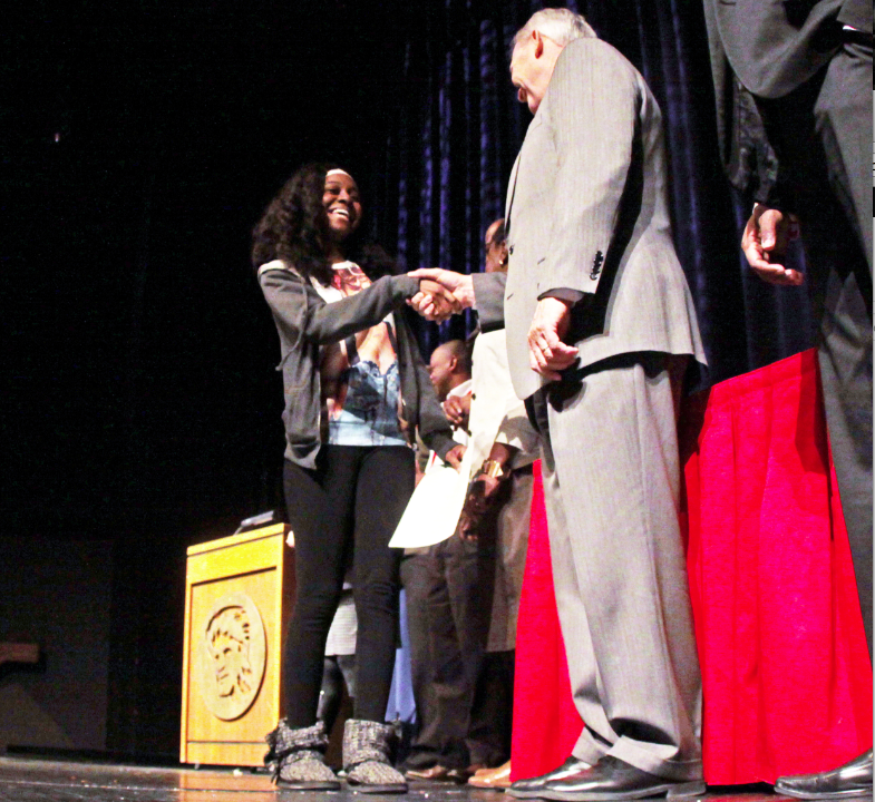 104+students+received+the+African-American+Achievement+Award+during+a+ceremony+held+in+the+Keating+Theater+during+homeroom+Feb.+11.+The+award+is+given+to+any+black+student+with+a+3.0+or+higher+GPA.++The+ceremony+also+recognizes+the+top+three++black+students+in+each+grade.+Each+student+received+their+award+and+listened+to+guest+speakers.