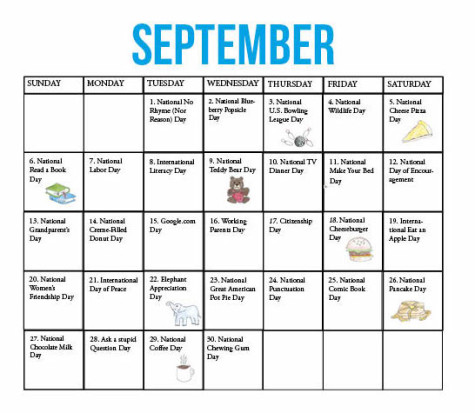 September is full of national holidays, from Labor Day to National Pancake Day. Here is a compilation of days to acknowledge within the 30 days of the month.
