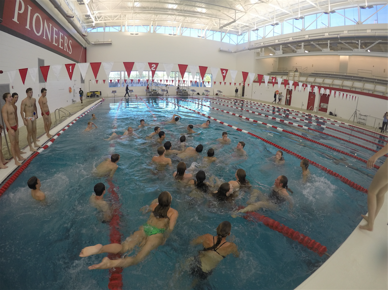 Students+swim+in+the+pool+for+the+first+time.