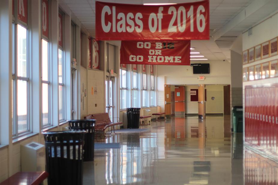 Pre-decorated+senior+hallway