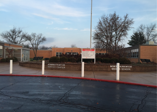 Administrative Service Center and North Kirkwood Middle School where the School Board meeting will be held. Located at: 11287 Manchester Road Kirkwood, MO 63122.