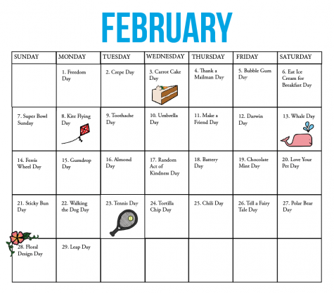 Fun national holiday calendar: February