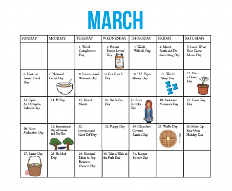 Fun national holidays: March