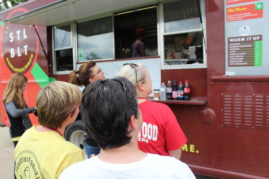 Food trucks at the Suicide Awareness walk.