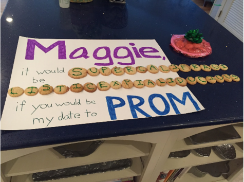 Another modern day promposal done by Sam Lopate, senior, to Maggie Herwig, senior.