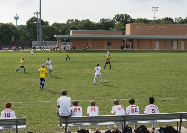 """Kirkwood beats Seckman! Boy's Varsity Soccer plays Sep. 14, 2016 against Seckman High School at Kirkwood. The boys brought Kirkwood yet another victory this season led by Coach Fisch. """"Coach Fisch always tells us to play with a chip on our shoulder because other schools look down on us. My motivation to win isn't for myself, but for the team,"""" Patrick Mclaughlin, senior."""