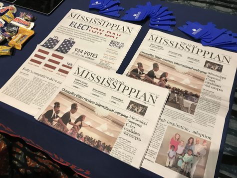 University of Mississippi's school newspaper that is released five days a week.