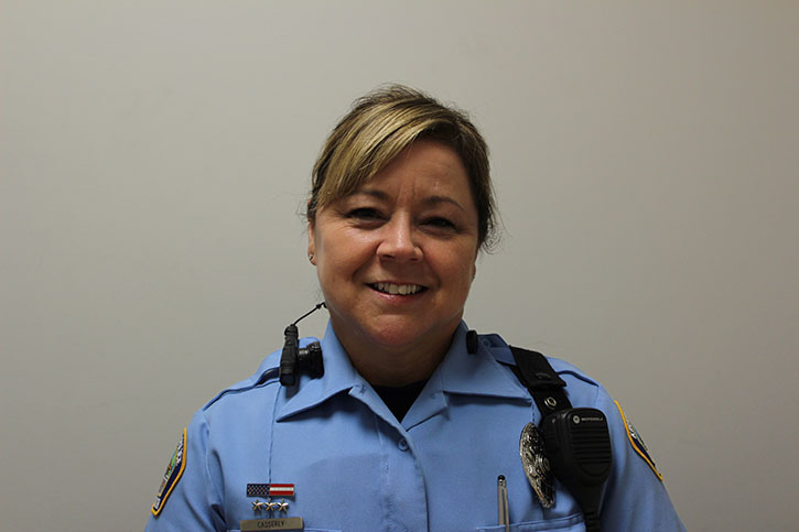 """Cynthia Casserly, Police Officer  """"I've always wanted to be a police officer ever since I was a kid. I finally realized that I need to make my dream come true, and that's when I got hired at Kirkwood. [I like] the diversity of Kirkwood. We have a little bit of everything from all walks of life. That's what makes it so interesting.""""   TKC: What is your proudest moment or accomplishment you've had with your job?  """"My proudest moment was [when] I had a young lady involved in heroine. Her parents were having a lot of trouble and she was obviously having a lot of trouble. I talked to [the young lady] at length. Then not until about a month later I saw the mother on the street and she actually hugged me and thanked me. Her daughter had gone to treatment. She was getting a job and starting to turn her life around. That's why I do what I do. But a lot of times, we don't get the closure. With the calls like that, we don't always know what happens [in the end]. We don't [always] know if we've had any impact.""""   TKC: Do you have any advice for anyone interested in law enforcement?  """"[My advice] is to finish schooling and get a college degree. More doors are open that way. Have a love for it, be able to talk to people, and don't have any criminal history at all."""""""