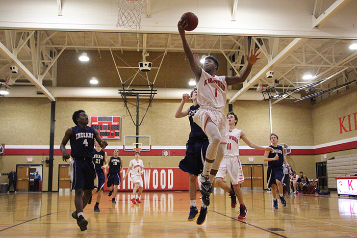 Arvell Ferguson, sophomore, goes in for a layup.