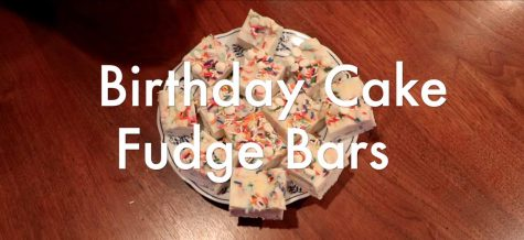 Birthday cake fudge bars