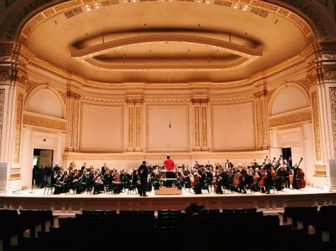 The KHS Symphony Orchestra played four pieces in Carnegie Hall Mar. 5.