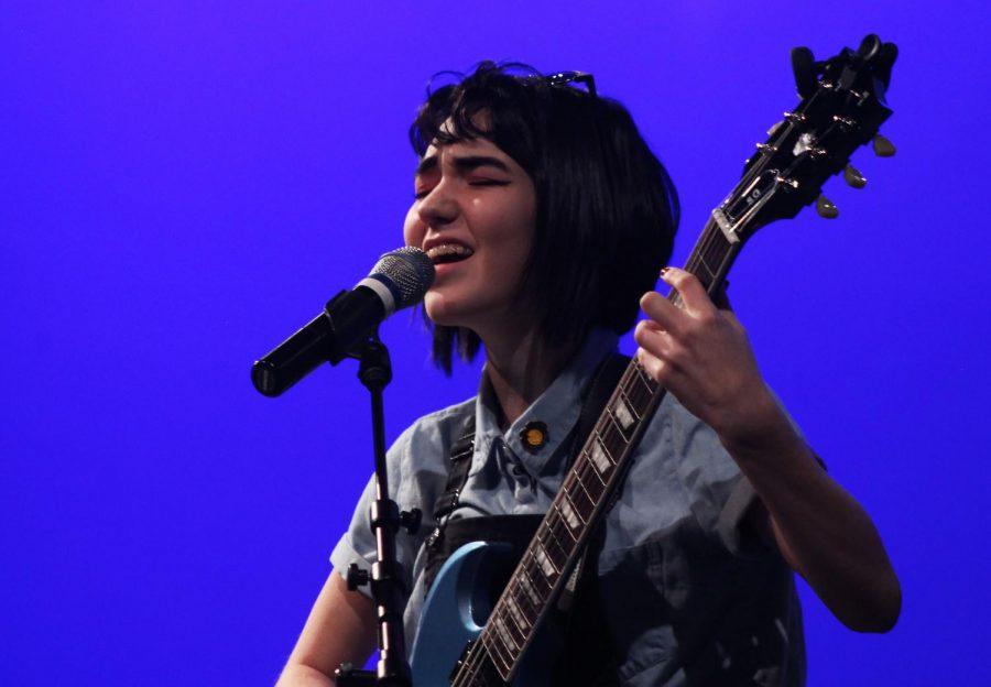 Hadley Lange, senior, sings and plays guitar.