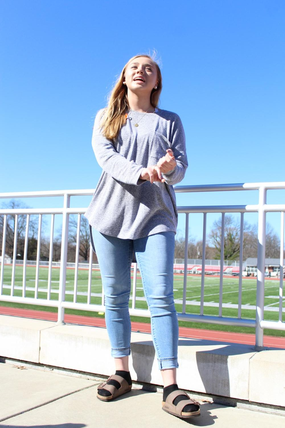 Ally+Ortmann%2C+sophomore%2C+shares+her+message.