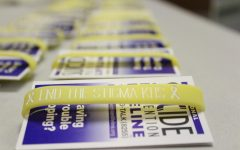 KHS students could pick up a bracelet and information card as they walked into school Mar 3.