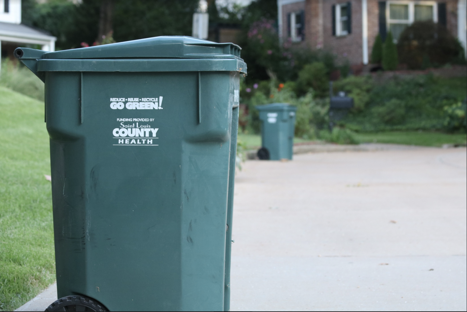These green bins sit outside the homes of many Kirkwood residents.