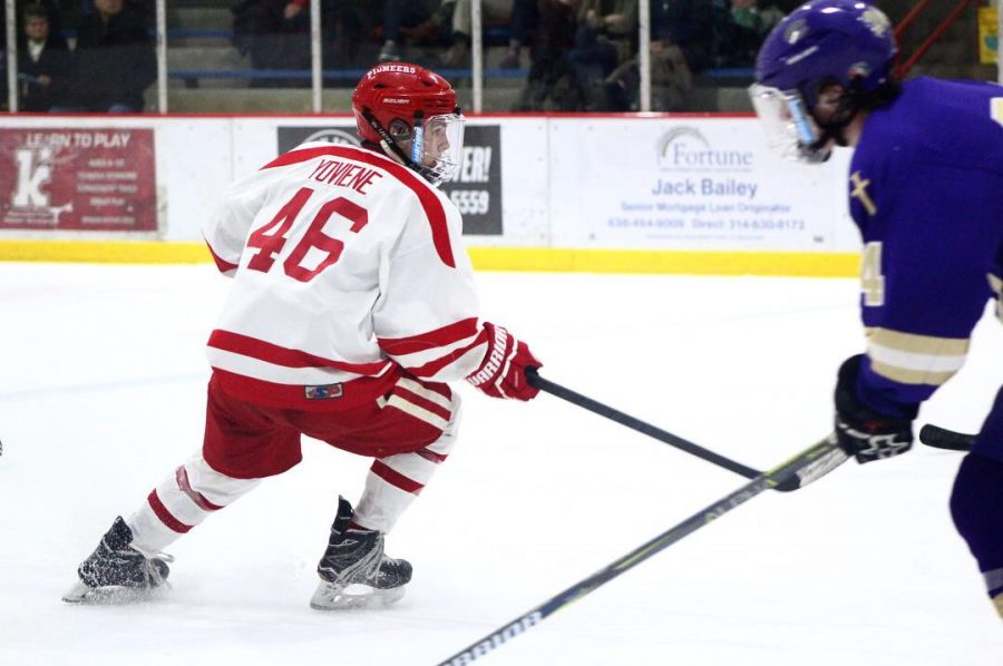 """Ferrel Yoviene, senior. """"I feel like hockey definitely is not as recognized as football or some other big name sports,"""" Andrew Kruzka, varsity hockey player, said. """"We are working hard and it is currently paying off, we have got a long road ahead of us, and I think everyone on the team is ready to tackle it."""""""