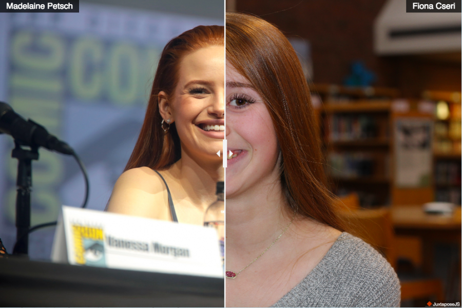 Fiona Cseri, junior, looks like actress Madelaine Petsch from