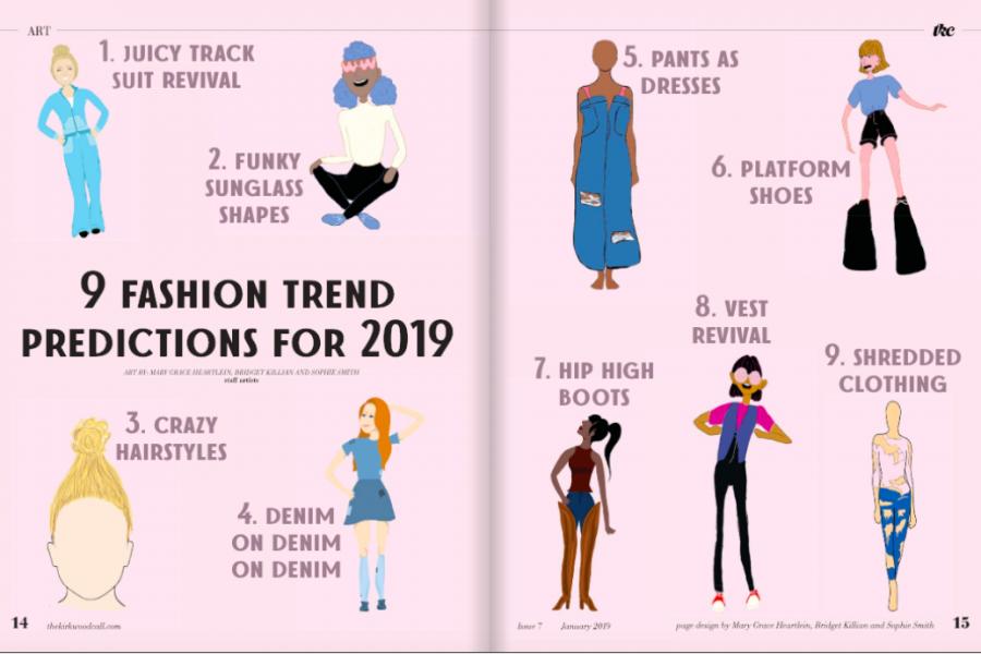 Nine fashion trend predictions of 2019