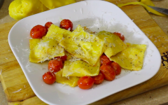 Cooking with Elliott: pecorino and ricotta ravioli with tomatoes