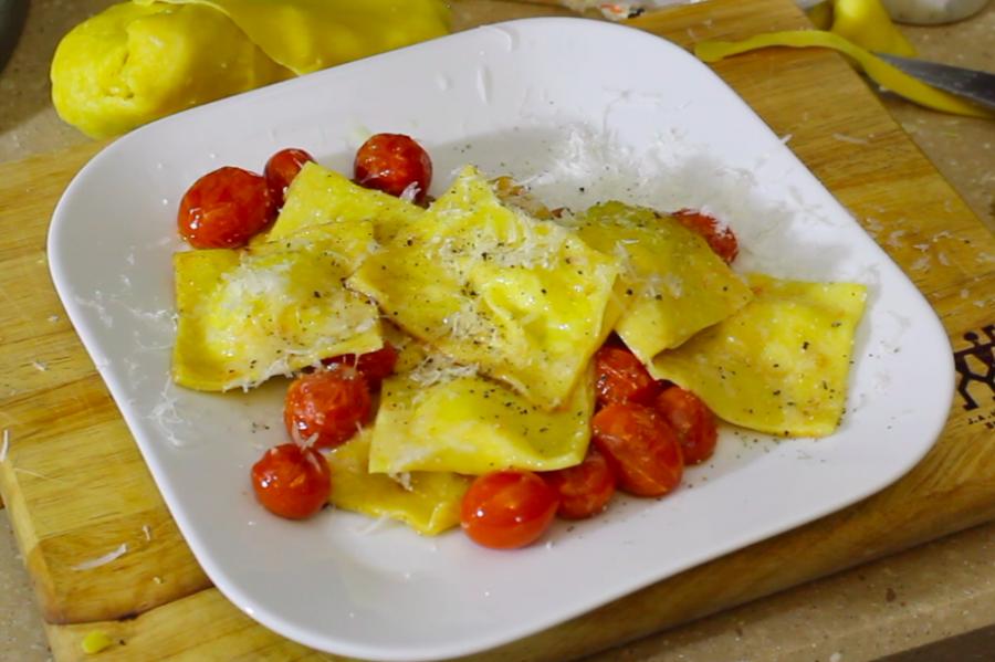 Cooking with Elliott: pecorino and ricotta ravioli with tomatoes