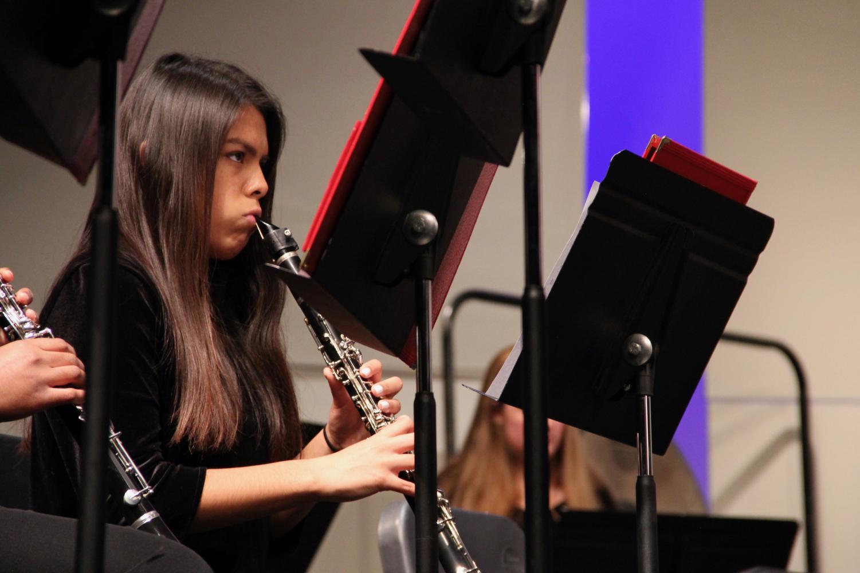 Izzy+Mostek%2C+sophomore%2C+plays+her+clarinet.+
