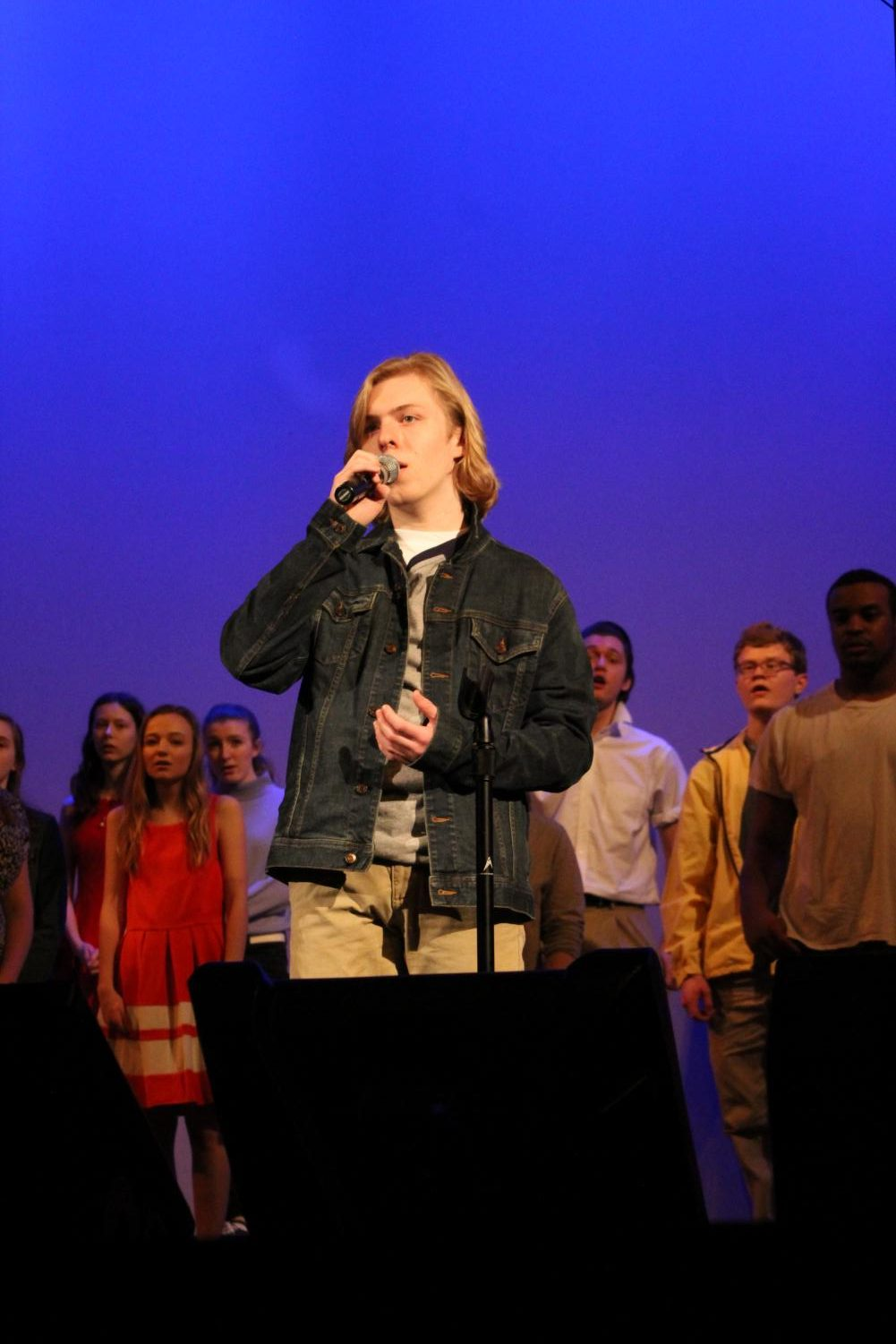 Matt+Johnson%2C+senior%2C+sings+a+solo+during+the+A+Cappella+Concert+Choir%27s+performance+of+West+Side+Story.+