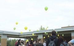 Balloon release for Alydia Johnson, sophomore 4/23/19