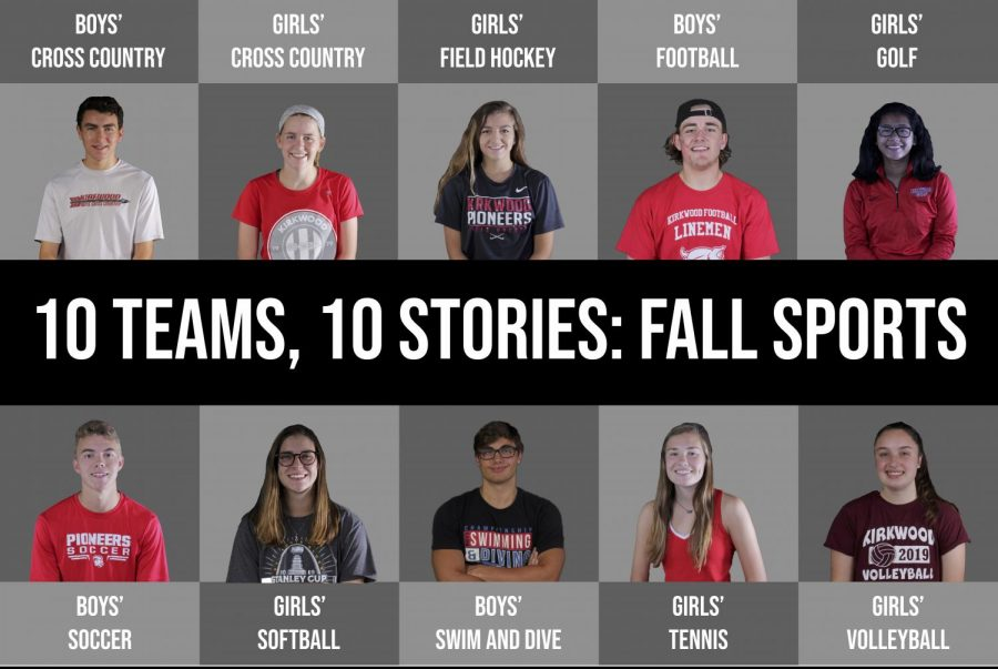 A leader from each of KHS' 10 fall varsity sports teams; photos by Kelley Cochran, visual by Hayden Davidson