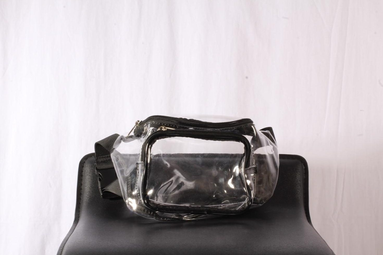 Enterprise Center implemented a new clear bag policy. Bags over a certain size must be clear, such as the fanny pack pictured above.