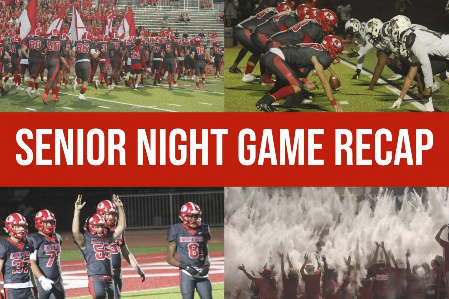 KHS footballs Senior Night ended in a 38-17 win for the Pioneers. Photos by Ella Davies; visual by Hayden Davidson.