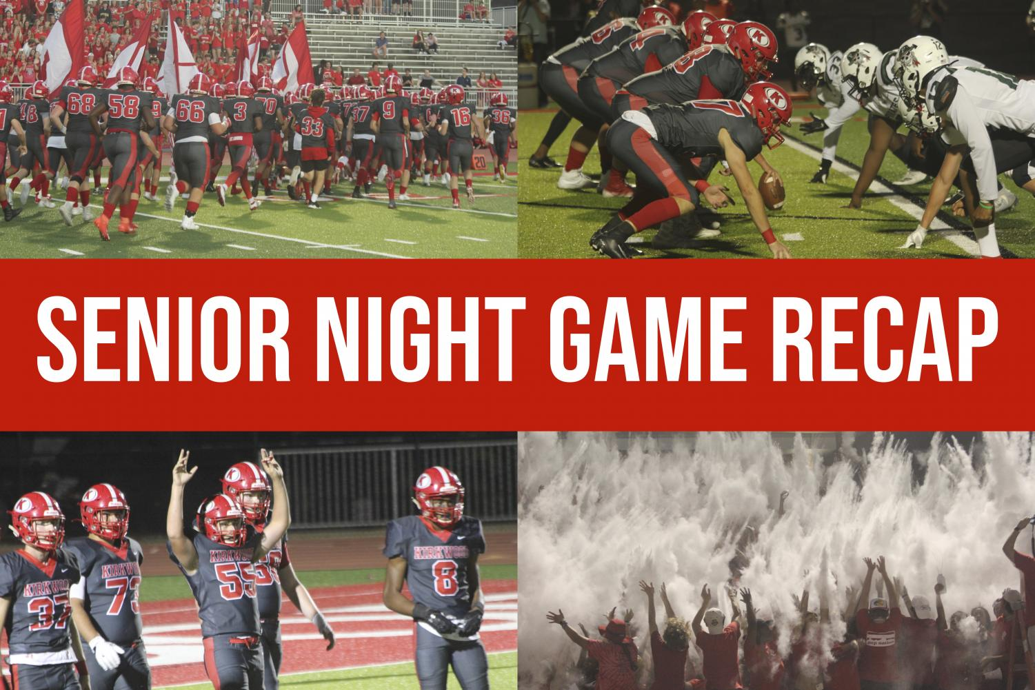 KHS football's Senior Night ended in a 38-17 win for the Pioneers. Photos by Ella Davies; visual by Hayden Davidson.