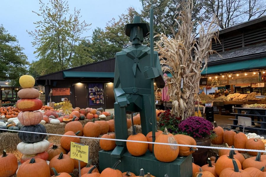 Pictured is the main statue at the entrance of the Kirkwood Farmers' Market.