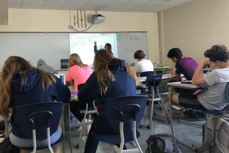 Katie Hall, math teacher, teaches algebra to sophomores and freshman.