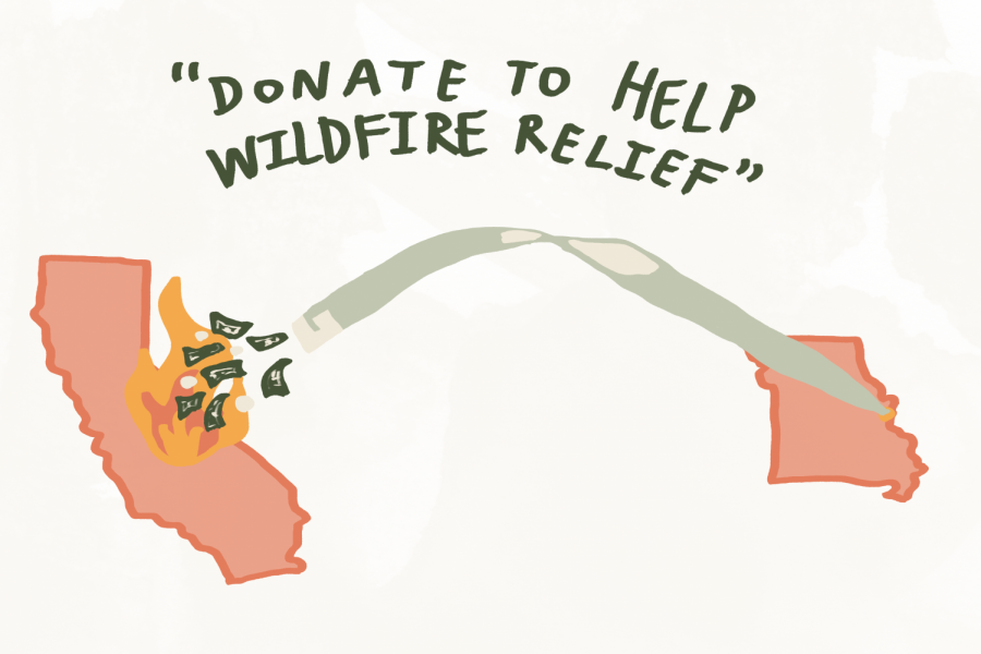 Student Council's annual fundraiser focused on aiding California wildfire relief efforts.