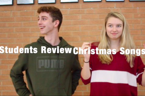 KHS students listen to and then review popular Christmas songs.